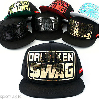 New DRUNKEN SWAG Snapback Hat KPOP Men Women Fashion Baseball Hiphop Running Cap