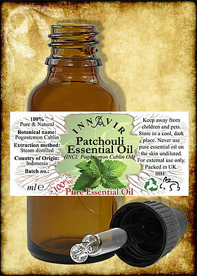100% Pure Patchouli Essential Oil 50ml, 30ml, 10ml+10% FREE, 5ml