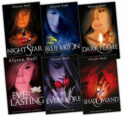The Immortals Series 6 Books Collection Set Alyson Noel Brand New Evermore
