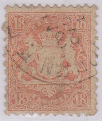 (R9-16) 1867 BAVERIA BAYERN 18K red ow63A (pin hole)