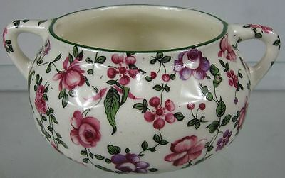 Vintage Erphila Fancy Handled Sugar Bowl Flowers