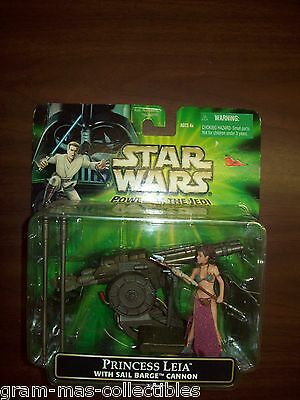 """Star Wars """"""""princess Leia"""" With Sail Barge Cannon Press Top Of Cannon To Fire"""