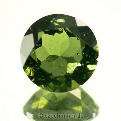 2.26cts round 9mm moldavite faceted cutted gem BRUS682