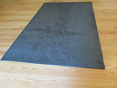 """High Density closed Cell Foam 5/16 X 36"""" X 51.5"""" sheet Charcoal color New"""