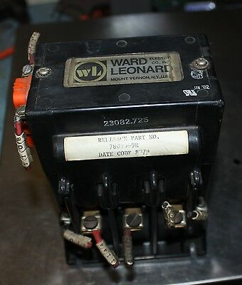 Ward Leonard 30A 600V DC Motor Contactor with reliance part 78090-9R
