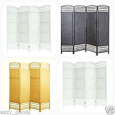 Hand Made Wicker Room Divider / Privacy Screen - Choice Of Size / Colours