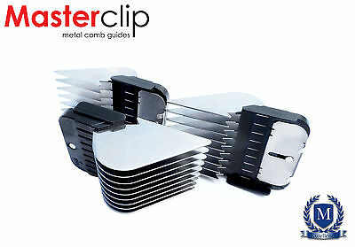 Masterclip Metal Comb Guides Long Cut Fits Oster, Andis & A5 dog clipper blades