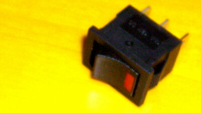 On/Off Led Illuminated  Rocker  Switch  Red 12V 6A  3A Spst