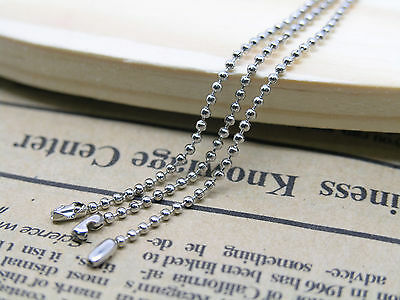 20pcs 24'' Stainless Steel Ball Chain Necklace 1.5mm Bead with Connector