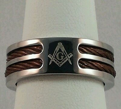 Freemason Stainless Steel Ring (size 12)