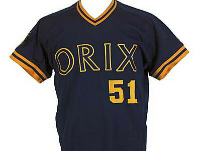 d48553bab Ichiro Suzuki Orix Blue Wave Baseball Jersey Navy Blue Quality New Sewn Any  Size