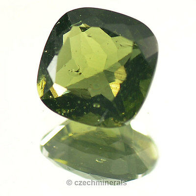 2,27cts square normal cut 9mm moldavite faceted cutted gem BRUS678