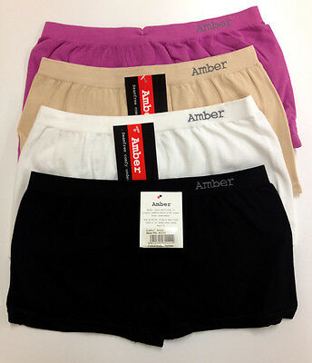 New Ladies Teen Girls Seamfree Modal Cotton Comfy Trunk-Choose Colours And Sizes