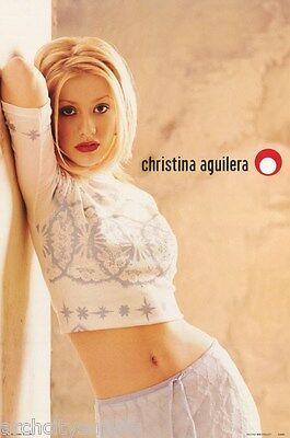 Poster : Music: Christina Aguilera - Leaning On Wall - Free Ship  #ca001  Lp35 R