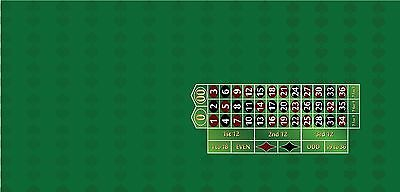 Casino roulette layout your choice of 4 colors