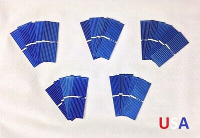 25x Untabbed 52x19mm Grade B Polycrystalline Solar Cell Panel PV Wafer USA