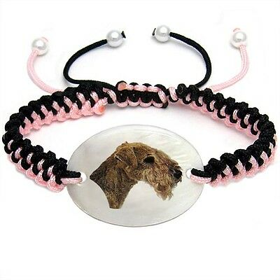 Lakeland Terrier Natural Mother Of Pearl Adjustable Knot Bracelet Chain BS55