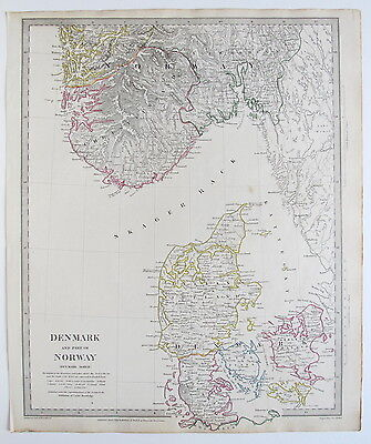 Sduk Map 1833 Denmark Norway Published 1844