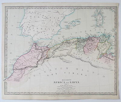 Sduk Map 1840 Ancient Libya Morocco Algeria Tunisia North Africa