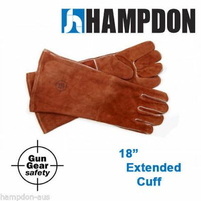 "Welding gloves 18"" extended cuff - Leather split cowhide - MIG -  Stick -AP2056"