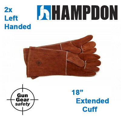 "2 x Left handed Welding gloves - 18"" extended cuff  - MIG -  Stick - Plasma"
