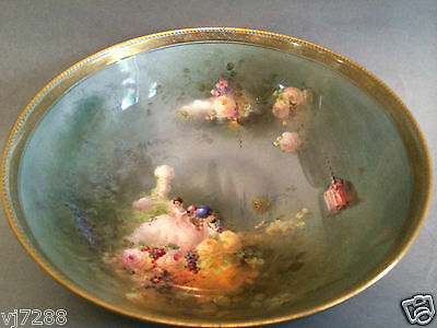 Exquisite Antique Royal Doulton Hand Painted Bowl Percy Curnock
