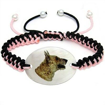 Belgian Shepherd Mother Of Pearl Natural Shell Adjustable Knot Bracelet BS186