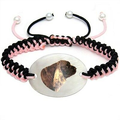 Sussex Spaniel Natural Mother Of Pearl Adjustable Knot Bracelet Chain BS201