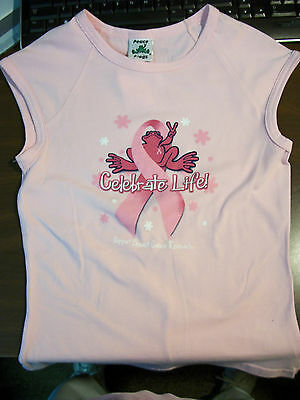 Peace Frogs Jr Medium Breast Cancer  Muscle T-Shirt