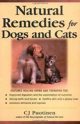 Natural Remedies For Dogs And Cats (Keats Good Herb Gui - Paperback NEW Puotinen