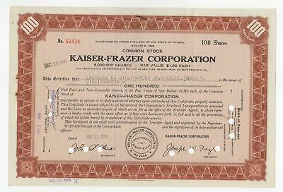 Kaiser-Frazer Corporation Stock