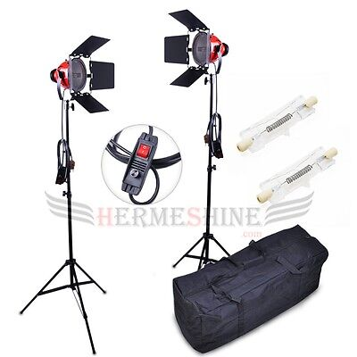 2x Professional Studio Video Continuous Lighting Kit 800w Red Head with Dimmer