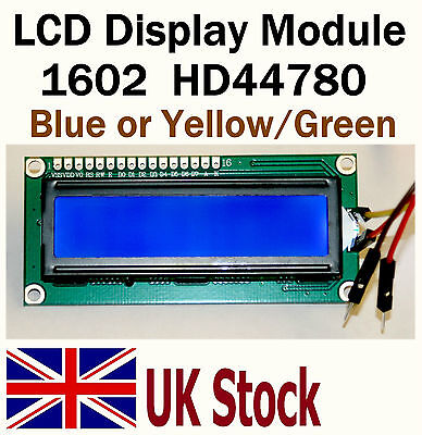 LCD Display Module Blue or Green/Yellow 1602 16X2 HD44780 Arduino Raspberry PI