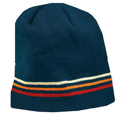 Peace Frogs Navy Stripe Beanie Hat