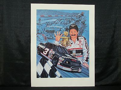 Dale Earnhardt Sam Bass Four To Go Nascar Racing Limited Edition Lithograph