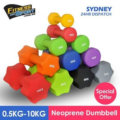 NEW Pair of Neoprene Dumbbell 1KG - 8KG Fitness Gym Exercise Equipment