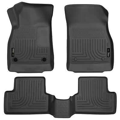 11-15 Chevy Cruze | 16 Cruze Limited Black WeatherBeater Floor 1st & 2nd Row Mat