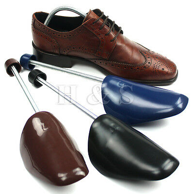 3 Pair Quality Mens Traditional Shoe Trees Plastic Shaper Stretcher Size 6-10