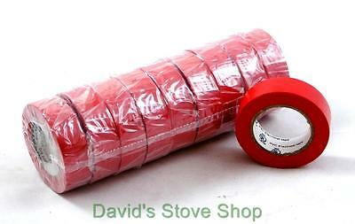 "1 Case of 300 Rolls  3/4"" x 30' Red PVC Vinyl Electrical Tape E52811 ET300"