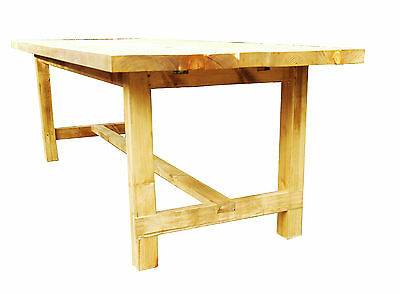 Traditional Country Farmhouse Rustic Table - Old Wood Shabby Chic Dining Table