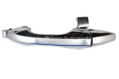 Door Handle Rear Outer Black /& Chrome Pair Set for 99-03 Acura TL New