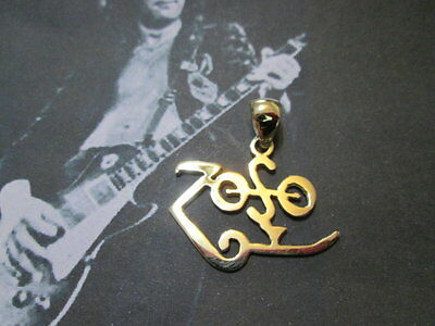 Jimmy Page Led Zeppelin  ZOSO symbol pendant  in Gold 18K- artisan product