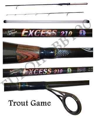 canna exces da pesca a spinning trota lago light game trout area rockfishing