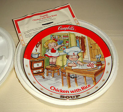 Danbury Mint Campbell Soup Kids Busy Girls Great Recipes CHICKEN WITH RICE Plate