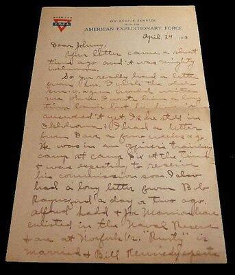World War One Naval Seaplane Pilot's Letter with Posted Envelope, 24 April 1918