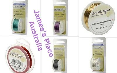 Artistic Wire - varied colours and gauges - jewellery making, craft, beading etc