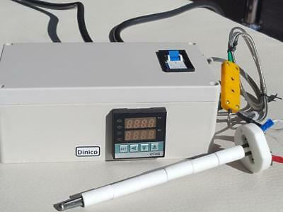 Plug & Play PID Temperature Controller Box Kiln Probe Pottery Glass Annealing