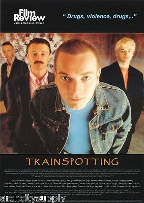 Poster:movie Repro: Trainspotting - Film Review - Free Shipping ! #ac066  Lc30 D