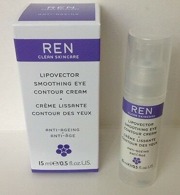 REN ~ Lipovector Smoothing Eye Contour Cream 15ml/0.5oz ~ NEW IN BOX