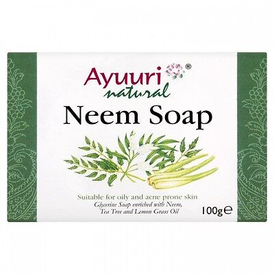 Ayuuri Natural Ayurvedic Herbal Neem Skin Care Soap For Oily and Acne Prone Skin